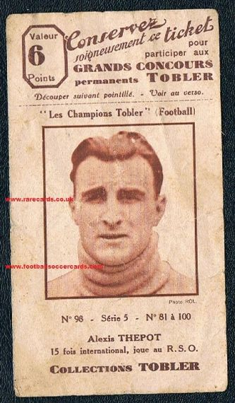 1931 Tobler Alexis Thepot Red Star France